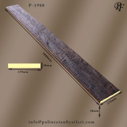 1980 poliüretan sert köpük ahşap görünümlü özel balta yontma dokulu eskitme panel