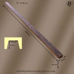 1981A poliüretan tavan ve duvar dekorasyonu için ahşap görünümlü kütük kiriş modelleri fiyatı