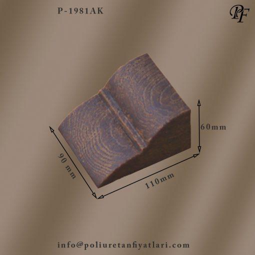 1981AK poliüretan rustik yapıda ortamlar için ahşap görünümlü kütk veya kiriş konsol veya köşe apartı