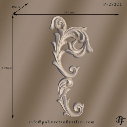 2822L poliüretan süsleme dekorasyonu iç ve dış dekorasyonda barok mimarisi tarzı dekor