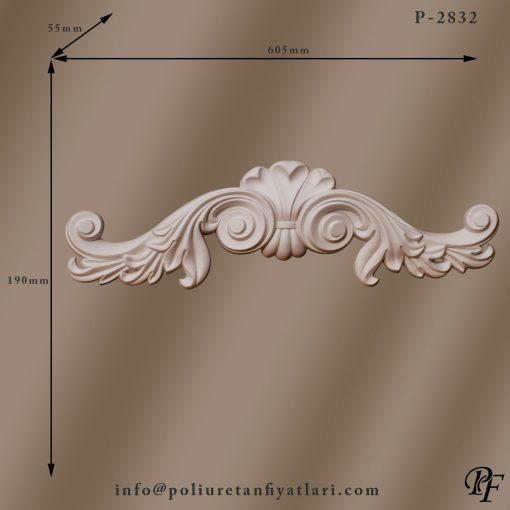 2832 poliüretan taç modelleri kapı  pencere üstü çıta dekorasyonu duvar süsleme taçları nodelleri