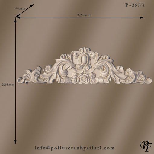 2833 dekoratif poliüretan taç modeli ve uygulamaları kapı ve pencere dekorasyonu duvar süsleme taçları