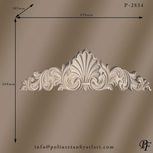 2834 iç ve dış dekorasyonda kullanılan dekoratif poliüretan taç modelleri