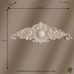 2836 poliüretan kapı tacı pencere taçları uygulaması  iç ve dış dekorasyon için taç modelleri