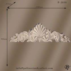 2838 poliüretan taç uygulaması kapı ve pencere tacı dekorasyonu dekoratif taçlar modelleri ve fiyatları