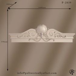 2839 poliüretan büyük taç modeli giriş kapı tacı modeli barok ve rokoko tarzı taçlar ve fiyatları