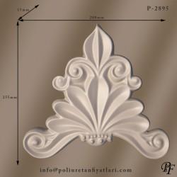 2895 poliüretan süsleme dekorasyonun iç ve dış cephe duvar dekoru taç modeli fiyatı