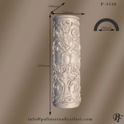 5530 30 çapında  poliüretan desenli sütun çiçekli ayak alt kaide fiyatları