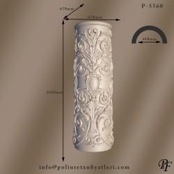 5560  60 çaplı poliüretan köpük desenli sütun çiçekli ayağı alt kaidesi fiyatları
