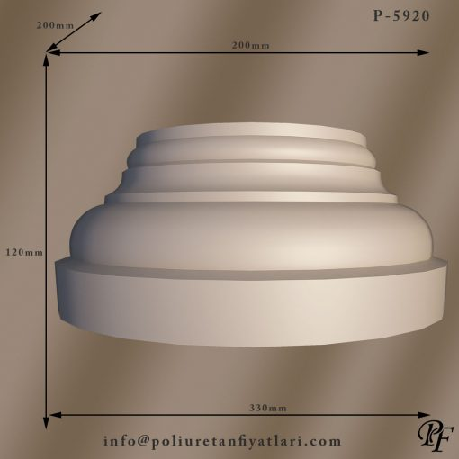 5920 20 çapında poliüretan sütun ayağı alt kaidesi fiyatları