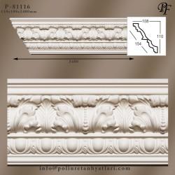 81116 poliüretan tavan süsleme dekoratif kartonpiyer deseni ve fiyatı
