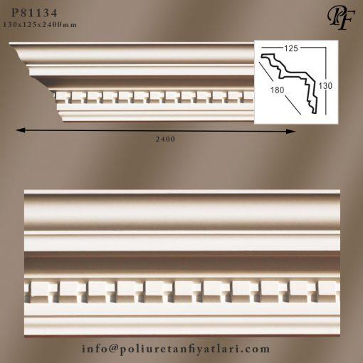 81134 poliüretan tavan kaplama dekoratif kartonpiyer süsleme