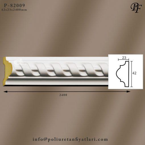 82009 poliüretan çerçeve yapımı için burgulu çıta model fiyatı