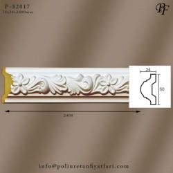 82017 poliüretan çiçek desenli dekoratif çıta model fiyatı