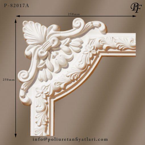82017A poliüretan dekoratif çiçek motifi çıta köşe model fiyatları
