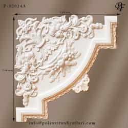 82024A poliüretan çiçek motifli büyük dekoratif çıta veya bordür köşe modelleri fiyatları