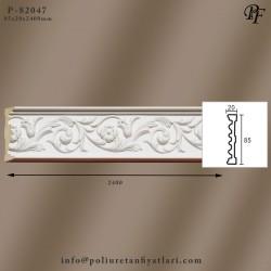 82047 poliüretan çiçek dekorlu bordür çıta köşe modelleri fiyatları