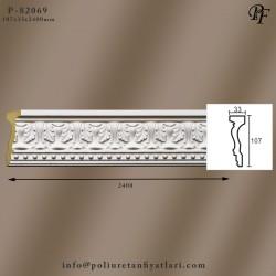 82069 poliüretan dekoratif çiçek motifli bordür modeli fiyatları