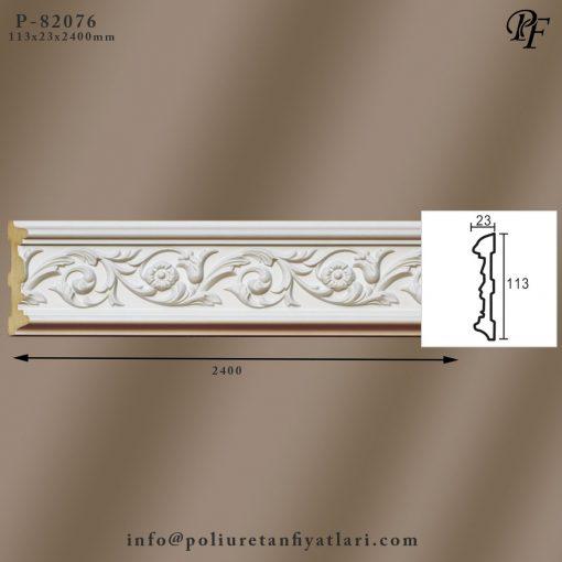 82076 poliüretan sert köpük çiçek desenli bordür modelleri fiyatları