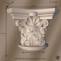 P5220 Poliüretan iyon korint köpük Sütun Başlıkları Fiyatları