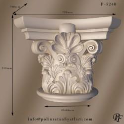 P5240 Poliüretan korint iyon dor köpük Sütun Başlık Fiyatları
