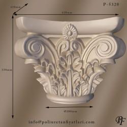 P5320 Poliüretan korint iyon ve dor kopuk Sütun Başlığı Fiyatları