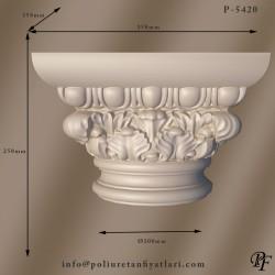 P5420 Poliüretan eski roma korint iyon  Sütun Başlıkları Fiyatları