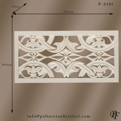 8105 poliüretan panel dekoratif kaplama duvar süsleme sert köpük paneller ve fiyatlar