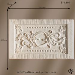 8106 Dekoratif poliüretan panel modelleri duvar kaplama ve süsleme panelleri sert köpük ahşap muadili motifli model fiyatları