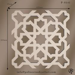 8141  poliüretan selçuklu motifli panel iç ve dış dekorasyon kaplama panelleri fiyatı