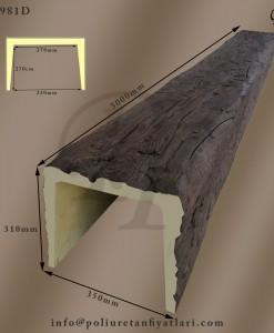 poliüretan ahşap mertek ahşap taklidi tavan kiriş fiyatları imalatı